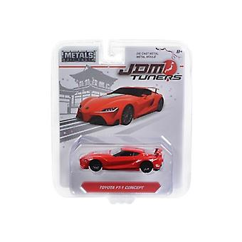 Toyota Ft-1 Concept Red 'Jdm Tuners' 1/64 Diecast Model Car by Jada