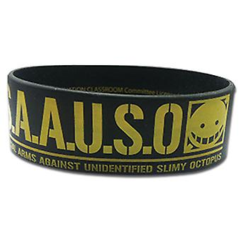 Wristband - Assassination Classroom - New S.A.A.U.S.O. Black ge54277