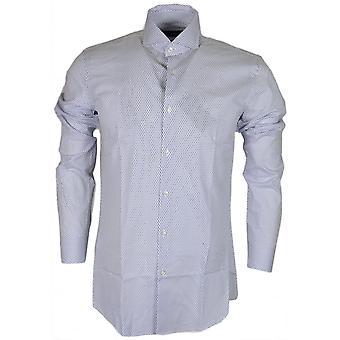 ヒューゴ ボス ジェイソン レギュラー フィット ダイヤモンド印刷白シャツ