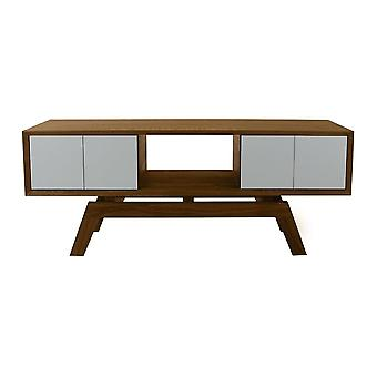 Fusion Living Tanskan Medium Walnut ja harmaa Media yksikkö