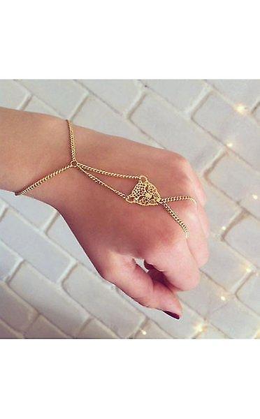 Leopard Chain Finger Ring Bracelet