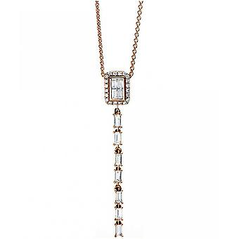 Diamantcollier Collier - 18K 750 Rotgold - 0.33 ct.