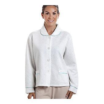 Womens Camille letto giacca con una stampa di puntino blu bianco