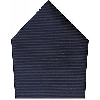 David Van Hagen Plain Twill Polyester Pocket Square - Royal Blue