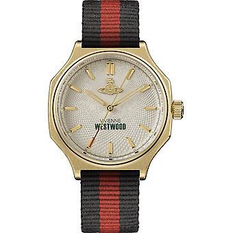Vivienne Westwood Watches Vv227cpbk Mile End Gold, Red & Black Nylon Men's Watch