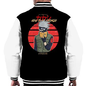 Read To Be Stronger Kakashi Hatake Naruto Men's Varsity Jacket