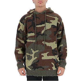R13 R13m116515 Men's Camouflage Cotton Sweatshirt