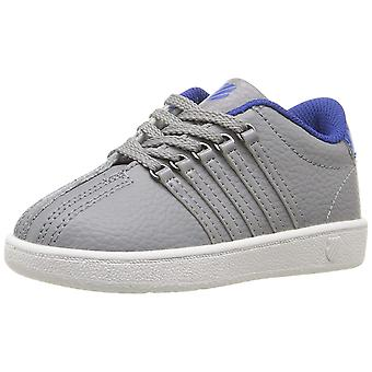 Kids K-Swiss Girls Classic VN Leather Low Top Lace Up Fashion Sneaker
