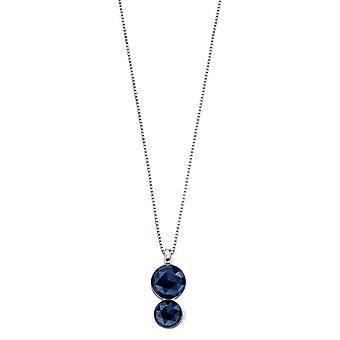 Fiorelli Silver & Blue Rose Cut Nano Crystal Pendant