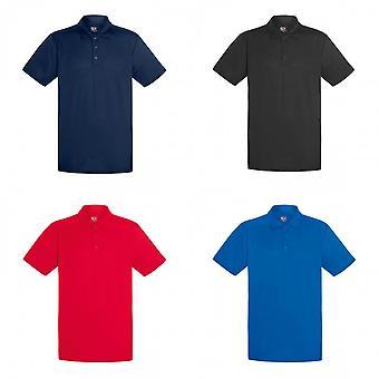 Frukten av den vävstol Mens kort ärm fukttransporterande prestanda Polo Shirt