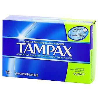 Tampax cardboard tampons, super, 10 ea