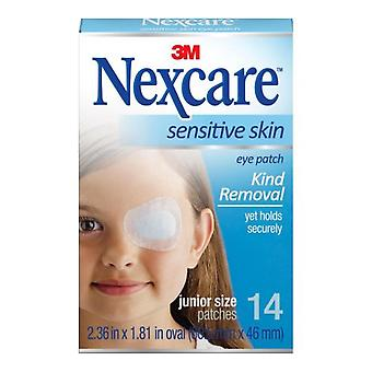 Nexcare sensitive skin eye patch, junior size, 14 ea