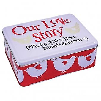 Bright Side Our Love Story Tin | Gifts From Handpicked