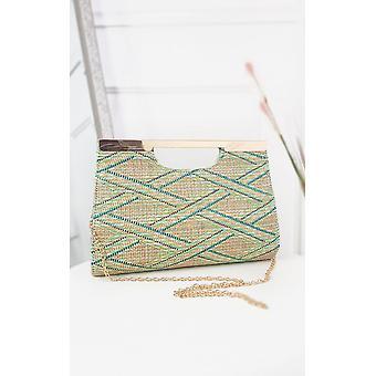 IKRUSH Womens Jenni Geometrische Getextureerde Clutch Bag
