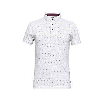 Esprit Men's Micro Print Polo T-Shirt Slim Fit