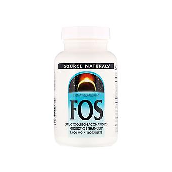 FOS (Fructooligosaccharides) (100 tablets) - Source Naturals