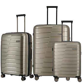 Travelite Air Base Suitcase Set 3 pièces S-M-L, Beige