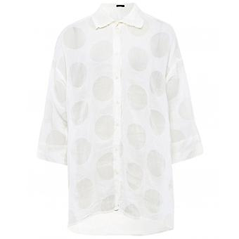Grizas Silk & Linen Spot Detail Shirt