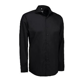 ID Mens Fine Twill Shirt Long Sleeve Modern Fit