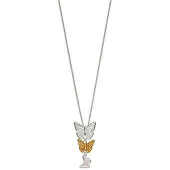 elementer sølv sommerfugl slipp anheng - sølv/ gull