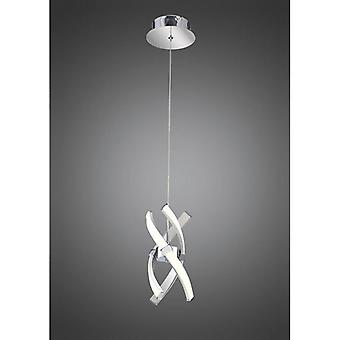 Suspension Espirales 1 Bulb 12w Led 3000k, 840lm, Silver / Frosted Acrylic / Polished Chrome