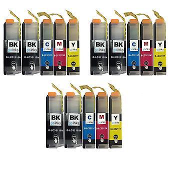3 készletek + Extra fekete helyett Brother LC3211 Kompatibilis / nem OEM a Go Inks (15 tins)
