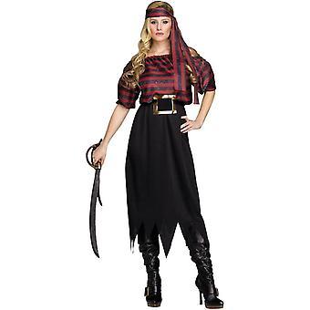 Wild piraat volwassen kostuum