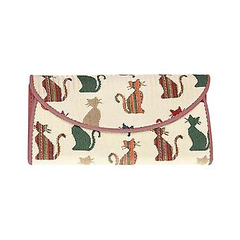 Cheeky cat women's money wallet by signare tapestry / enve-cheky