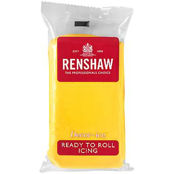 Renshaw Yellow Ready to Roll Fondant Icing