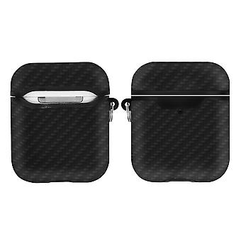 AirPods 1/2 Rigid Shock and Scratch Resistant with Akashi Carabiner Black