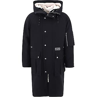 Valentino Uv3cjd206e70na Men's Black Cotton Outerwear Jacket