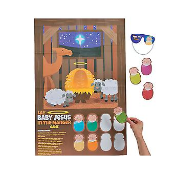 Colocar o menino Jesus no presépio Natal natividade festa jogo