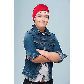 Chemo Hat for Children - Alex Red & Grey