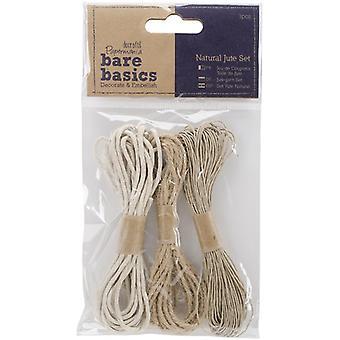 Papermania Bare Basics Natural Jute Set (3pcs) (PMA 174171)