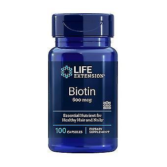 Biotin 600 Mcg 100 cápsulas