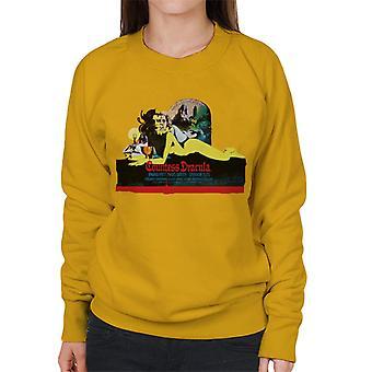 Hammer Horror Films Contessa Dracula Film Poster Donne's Sweatshirt