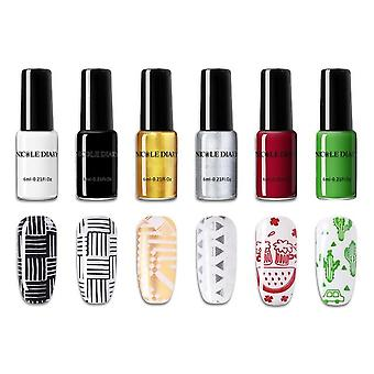 Stamping Nail Polish Nail Art Varnish For Nail Diy Stamping Plate Tools
