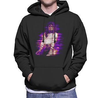 マイケル ・ ジャクソン悪い世界旅行 1988 パープル フレア メンズ フード付きスウェット シャツ