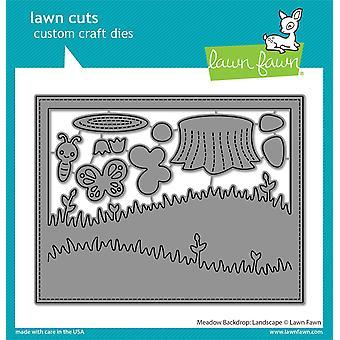 Lawn Fawn Meadow Backdrop: Paysage meurt