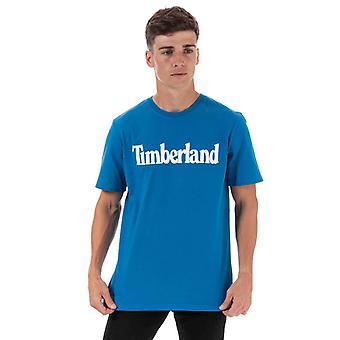 Men & apos;s Timberland Kennebec River Brand T-shirt i blått