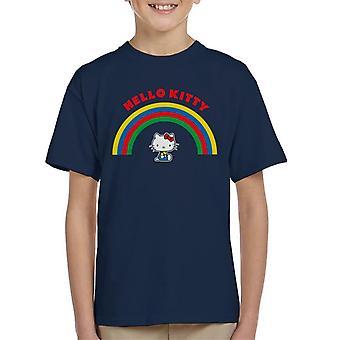 Hello Kitty Under Regnbuen Kid's T-skjorte