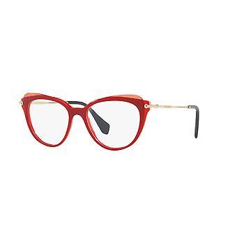 Miu Miu VMU01Q VX91O1 Red-Top Transparent Red Glasses