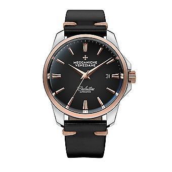 Meccaniche Veneziane 1301012 Redentore Automatic Matt Black Dial Wristwatch