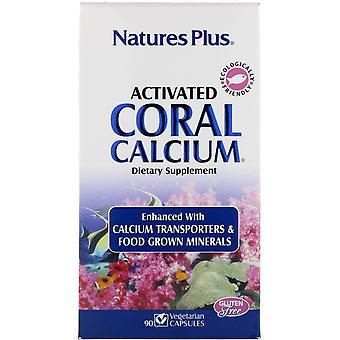 Nature-apos;s Plus, Calcium de corail activé, 90 capsules végétariennes