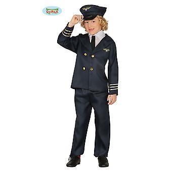 Pilot vlucht kapitein vlieger kostuum kinderen