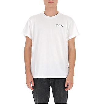 Amiri F0m03232cjwht Men's White Cotton T-shirt
