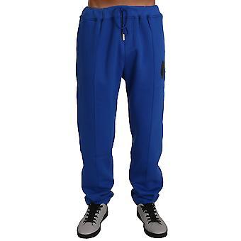 Blue Cotton Pulover Pantaloni Trening BIL1025-4