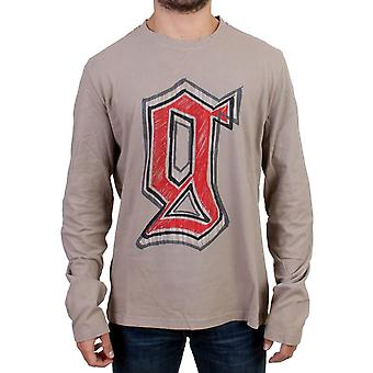 T-shirt Galliano Gray Crewneck à manches longues SIG10717-1