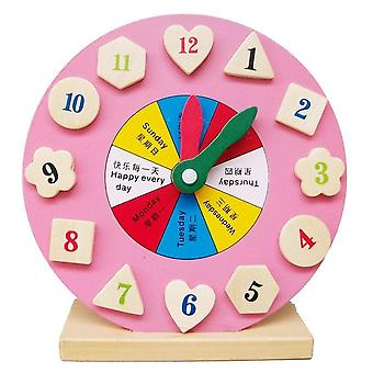 Wooden- Weather Season Calendar Clock Time, Cognition Puzzle