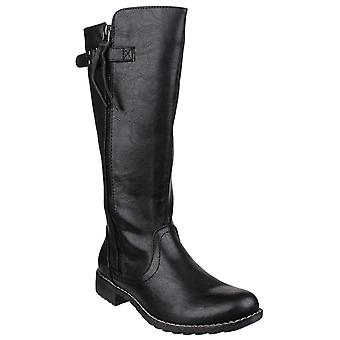 Divaz women's bari zip up boot black 22809-37237